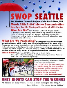 SWOP-Seattle Anti-Violence Demonstration Poster
